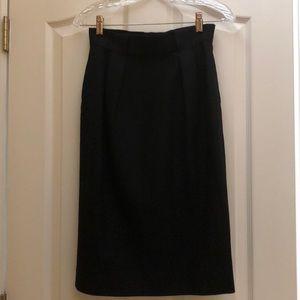 Jones New York Black Wool Below Knee Skirt SZ 6